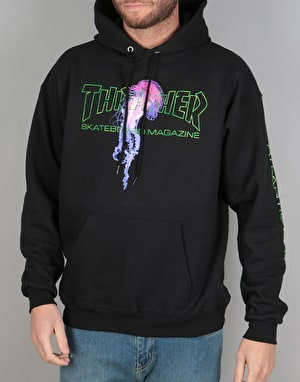 Thrasher x Atlantic Drift Pullover Hoodie - Black