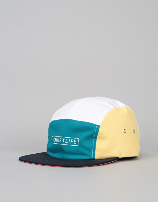 The Quiet Life Pacific 5 Panel Cap - White/Teal/Navy