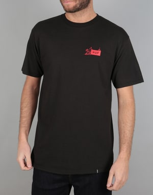 HUF x Butter Goods Feels Like Home T-Shirt - Black