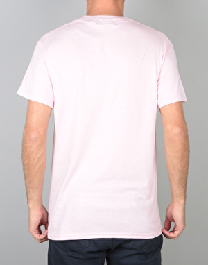 Route One Embroidered Logo T-Shirt - Light Pink