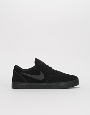 Nike SB Check Suede Boys Skate Shoes - Black/Black/Anthracite