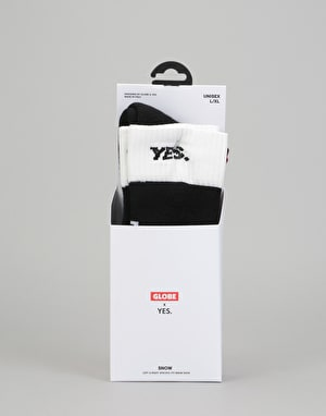 Globe x Yes Up and Down Snowboard Socks - Black
