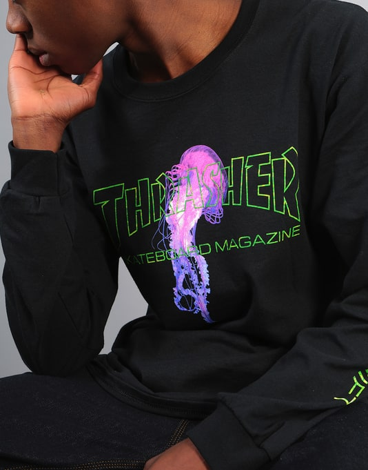 Thrasher x Atlantic Drift L/S T-Shirt - Black