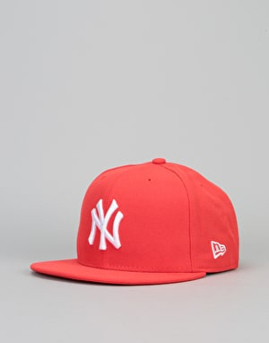 New Era 9Fifty New York Yankees League Snapback Cap - Heather Red