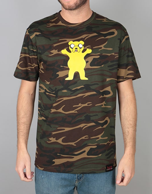 Grizzly x Adventure Time Homies Help Homies T-Shirt - Camo