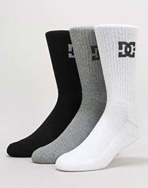 DC Crew Socks 3 Pack - Assorted