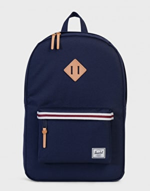 Herschel Supply Co. Heritage Backpack - Peacoat/White/Windsor Wine/Tan