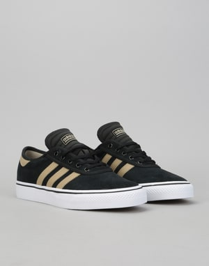 Adidas Adi-Ease Premiere Skate Shoes - Core Black/Raw Gold/White
