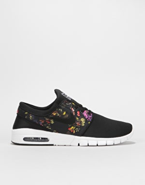 Nike SB Stefan Janoski Max Skate Shoes - Black/Black-Multi-Color