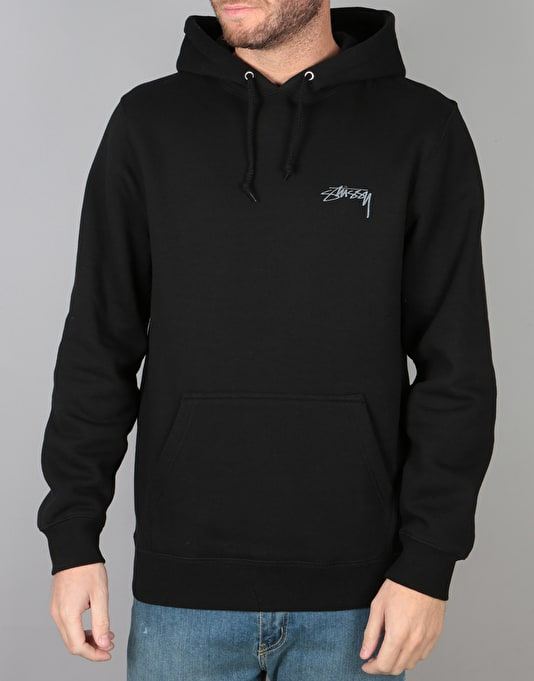 Stüssy Smooth Stock Pullover Hoodie - Black