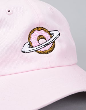 Skateboard Café Planet Donut Dad Hat - Pink
