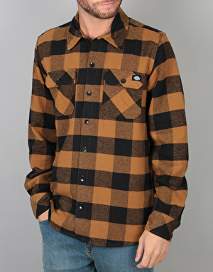 Dickies Sacramento L/S Shirt - Brown Duck