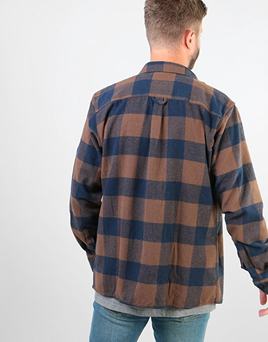 Route One Flannel Shirt - Brown/Navy