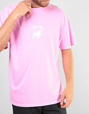 Stüssy Stock Lion Pigment Dyed T-Shirt - Pink