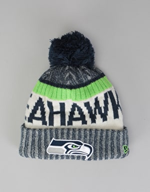 New Era NFL Seattle Seahawks Sideline Bobble Beanie - Multi