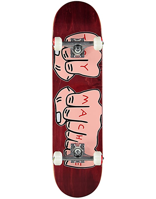 Toy Machine Fists Woodgrain Complete Skateboard - 7.75""