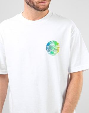 Butter Goods Gradient Worldwide T-Shirt - White