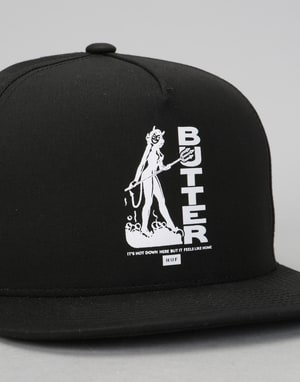 HUF x Butter Goods Devil Snapback Cap - Black