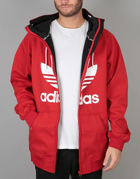 Adidas Greeley Soft Shell 2018 Snowboard Jacket - Scarlet/White