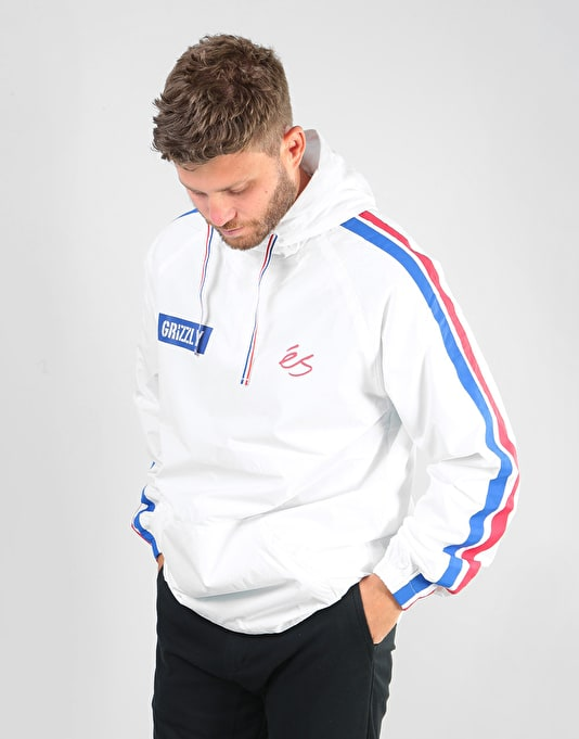 éS x Grizzly Match Anorak Jacket - White