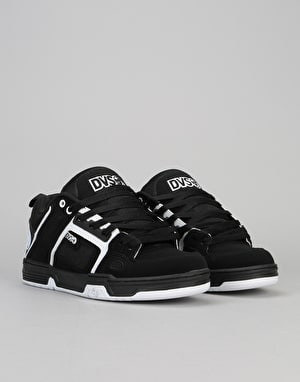 DVS Commanche Skate Shoes - Black/White Nubuck