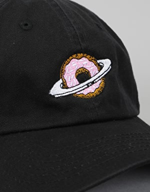 Skateboard Café Planet Donut Dad Hat - Black
