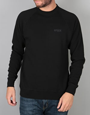 Enjoi Large Print Tonal Crew - Black