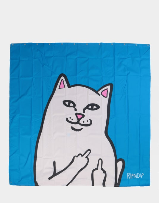 RIPNDIP Lord Nermal Shower Curtain - Blue