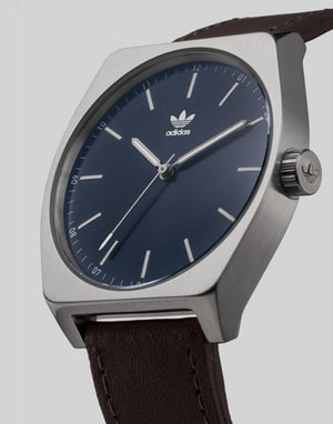Adidas Process L1 Watch - Silver/Navy Sun Ray/Dark Brown