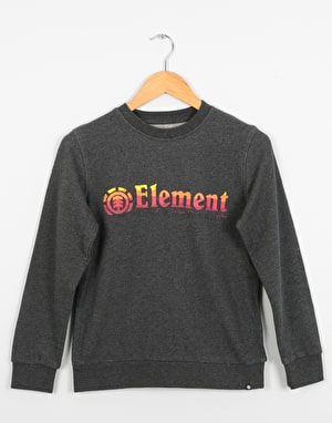 Element Horizontal Fill Boys Sweatshirt - Charcoal Heather