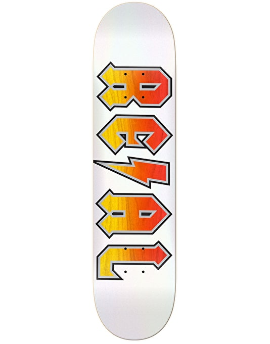 Real Deeds White Out Skateboard Deck - 8.5""