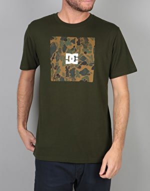 DC Square Boxing T-Shirt - Dark Olive