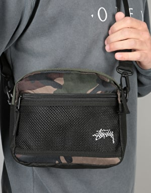 Stüssy Stock Cross Body Bag - Woodland Camo