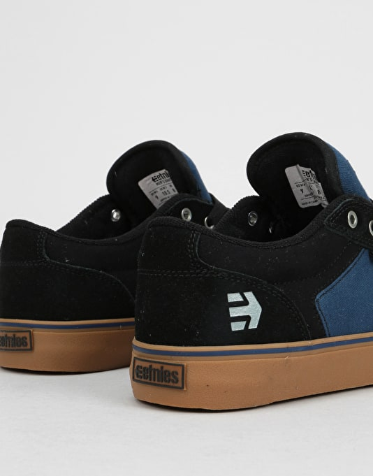 Etnies Barge LS Skate Shoes - Black/Navy