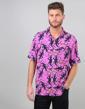 Obey Salazar Woven S/S Shirt - Purple Multi