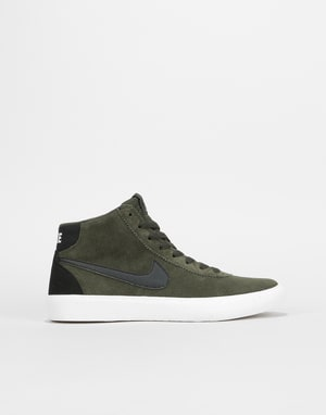 63aeb9b34a Nike SB Bruin Hi Womens Trainers - Sequoia Black-Summit White ...