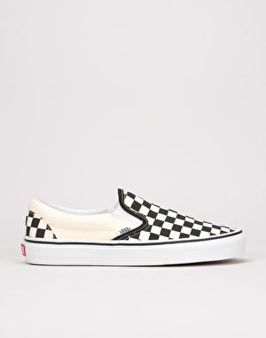 Vans Slip-On Pro Skate Shoes - (Checkerboard) Black/White