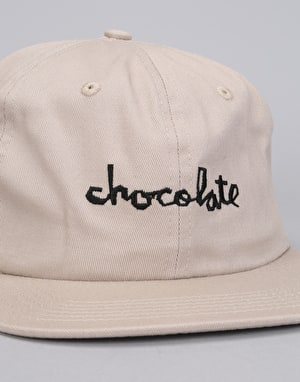 Chocolate Chunk 6 Panel Strapback Cap - Grey