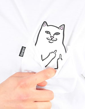 RIPNDIP Womens Lord Nermal Oversized T-Shirt - White