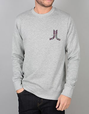 WeSC Inlay Icon Chest Crewneck - Grey Melange