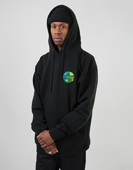 Butter Goods Gradient Worldwide Pullover Hoodie - Black