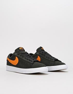 Nike SB Zoom Blazer Low GT Skate Shoes - Black/Vivid Orange/White