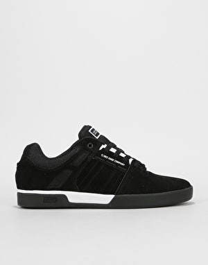 DVS Getz Skate Shoes - Black/White/Black Suede