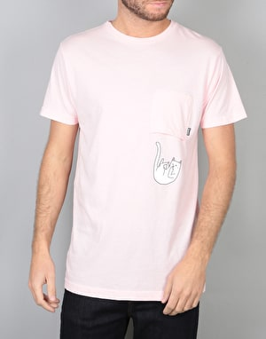 RIPNDIP R1 Exclusive Falling for Nermal Pocket T-Shirt - Pink