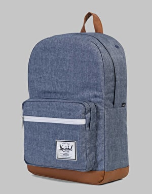 Herschel Supply Co. Pop Quiz Backpack - Dark Chambray Crosshatch/Tan