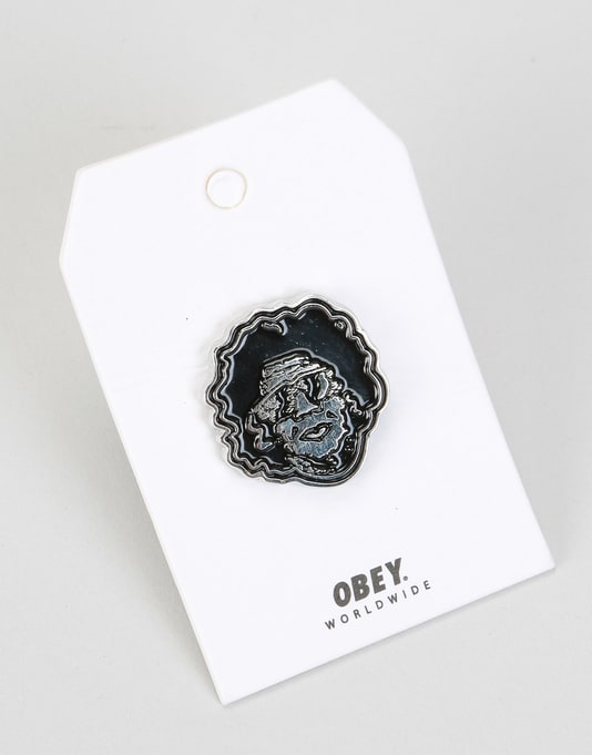 Obey Boogie Icon Pin - Black