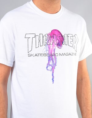 Thrasher x Atlantic Drift T-Shirt - White