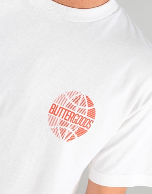 Butter Goods Lateral Worldwide T-Shirt - White