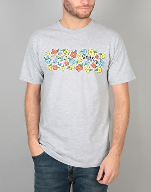 Spitfire Reynolds by Gonz T-Shirt - Heather Grey