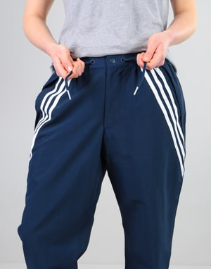 Adidas Womens Oversized Workshop Pants - Night Indigo/White